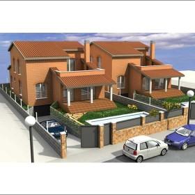 Edificación de 6 casas unifamiliares aisladas
