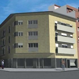 Edificio plurifamiliar de 17 pisos, locales comercial y parking